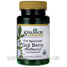 Ягоды Годжи, Goji Berry , Swanson, 500 мг, 60 капсул