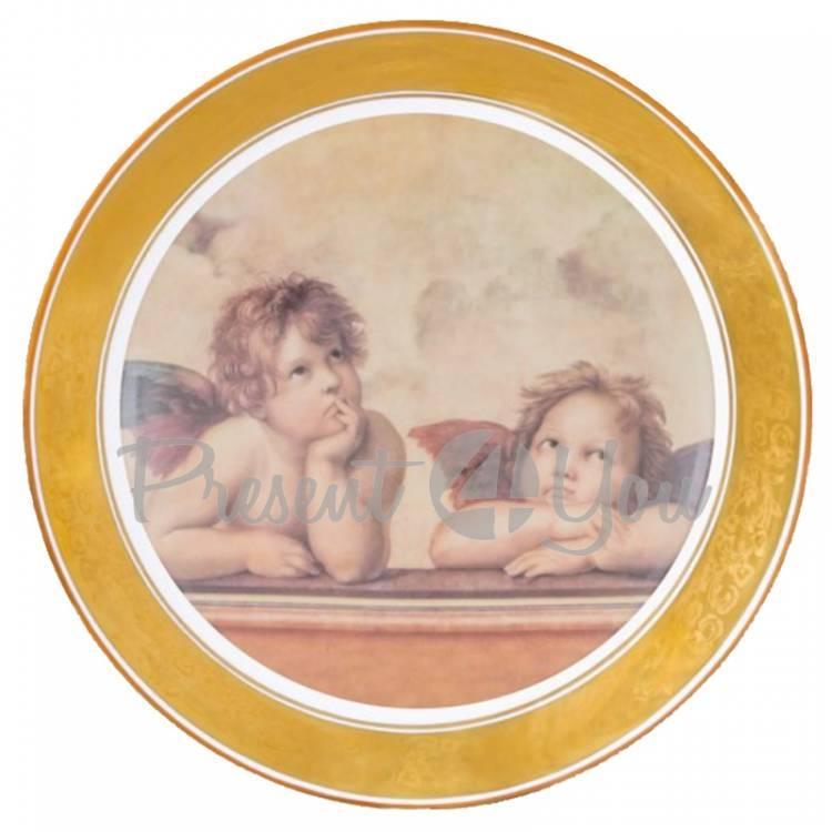 Декоративная тарелка «Ангелы в раздумьях» Gloria, d-32 cм (264-3210D)