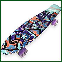 "Скейт Пенни борд Penny Board Zippy Print Led 22"" Spike - Спайк 54 см, фото 2"