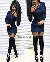 Платье женское с люрексом (мод. 1051) Цвет: темно-синий, графит, бутылка, бордо, фото 1