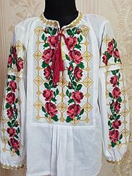 Нарядная вышиванка для девочки Трояндочка