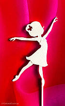 Топпер балеринка на торт, украшение Белая балерина ОПТ/Розница