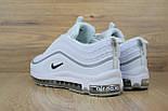 Женские кроссовки в стиле Nike Air Max 97 белые с серым. Живое фото, фото 2