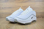 Женские кроссовки в стиле Nike Air Max 97 белые с серым. Живое фото, фото 4