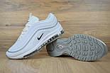 Женские кроссовки в стиле Nike Air Max 97 белые с серым. Живое фото, фото 3