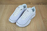Женские кроссовки в стиле Nike Air Max 97 белые с серым. Живое фото, фото 5