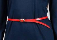 Женский тонкий пояс Красный