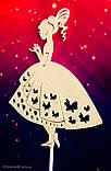 Топпер принцеса на торт, топер дівчина дівчина плаття ,топпери силуети ОПТ/Роздріб, фото 4