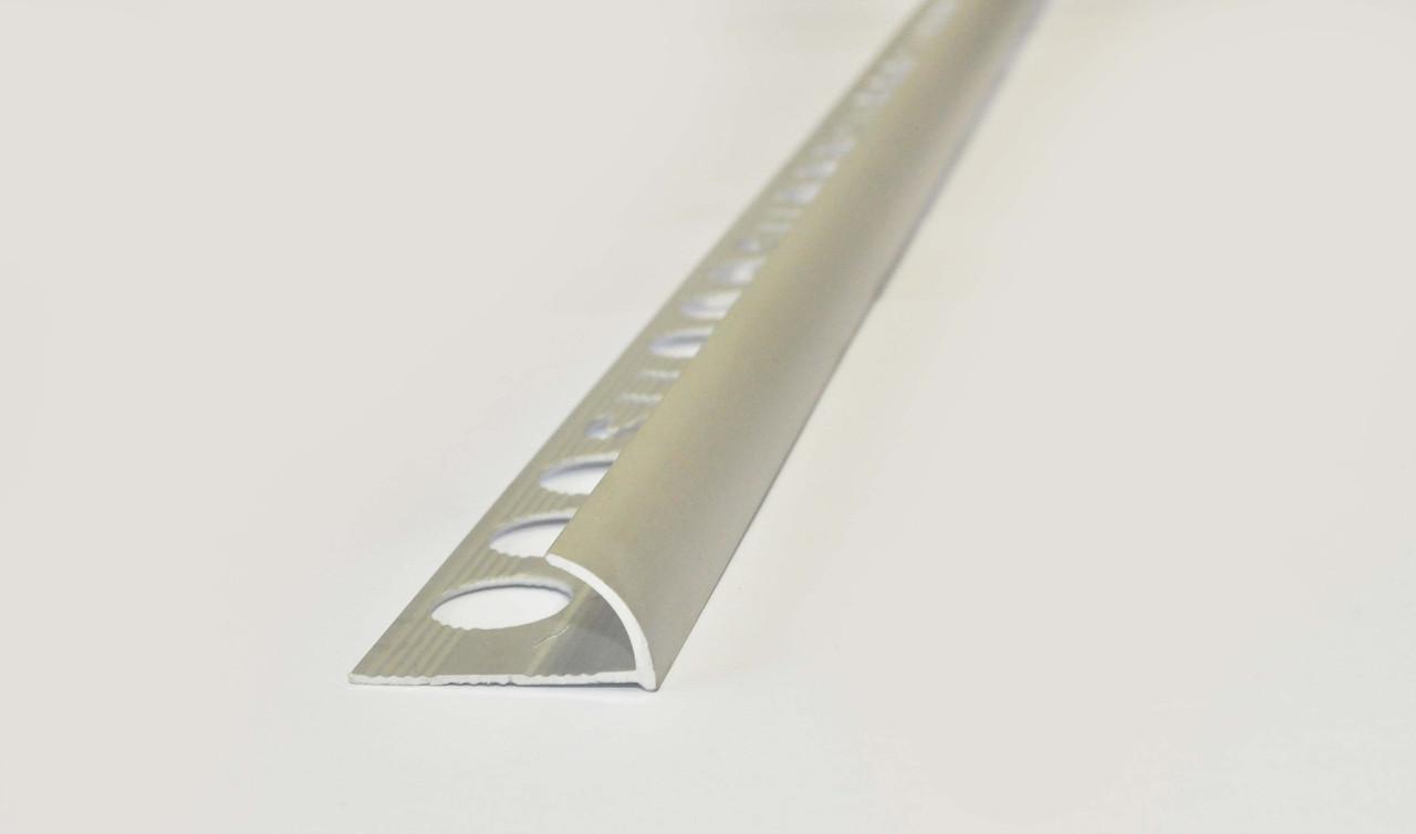 Полукруглый алюминиевый уголок для плитки TIS 10 мм 2.7 м серебро НАП 10