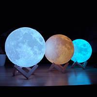 3D ночник на сенсорном управлении с рельефом луны c 7 вариантами подсветки, фото 1