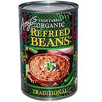 Amy's, Вегетарианские органические поджаренные бобы, традиционные, 15.4 унций (437 г)