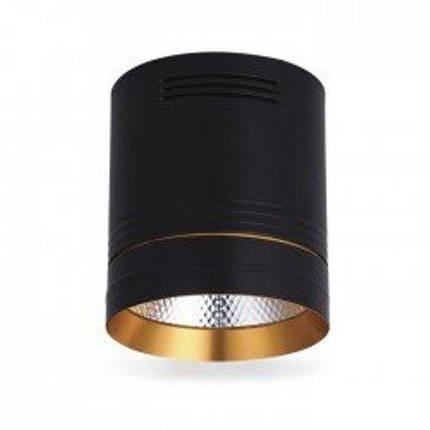 Светодиодный cветильник накладной AL542 18W 4000K цилиндр черный/золото Код.59430, фото 2