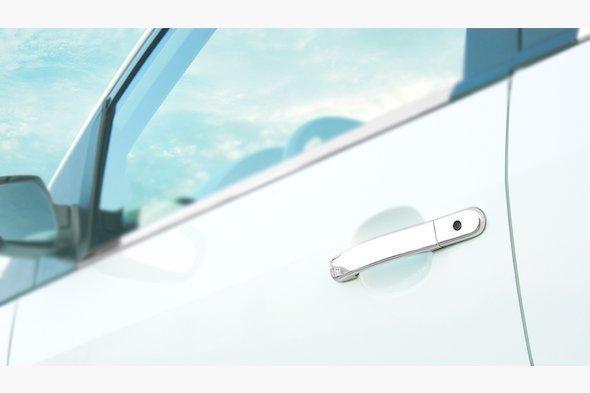 Накладки на ручки (4 шт., нерж.) Ford Fusion 2002-2009 гг.
