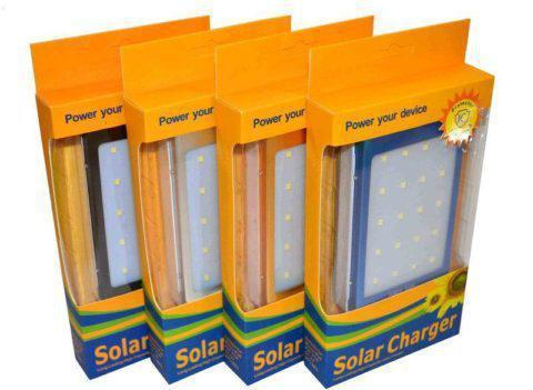 Портативное зарядное устройство Power Bank SOLAR c LED L5 25000 mAh