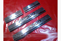 Накладки на пороги Carmos (4 шт., нерж.) Ford Fusion 2002-2009 гг.