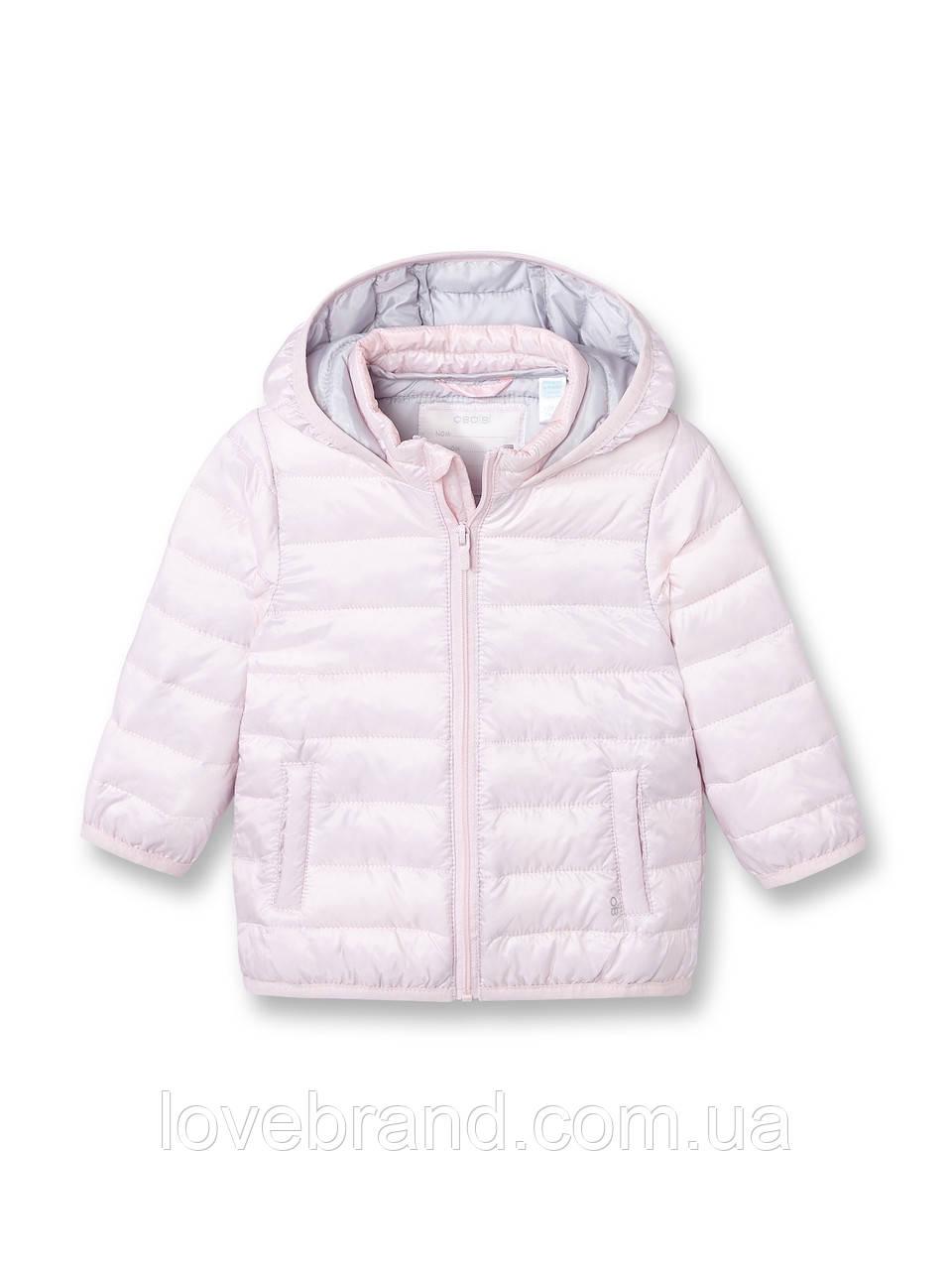 Легкая демисезонная курточка для девочки OKAIDI (ФРАНЦИЯ) нежная розовая