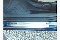Накладки на пороги OmsaLine (4 шт., нерж.) Ford Fusion 2002-2009 гг.