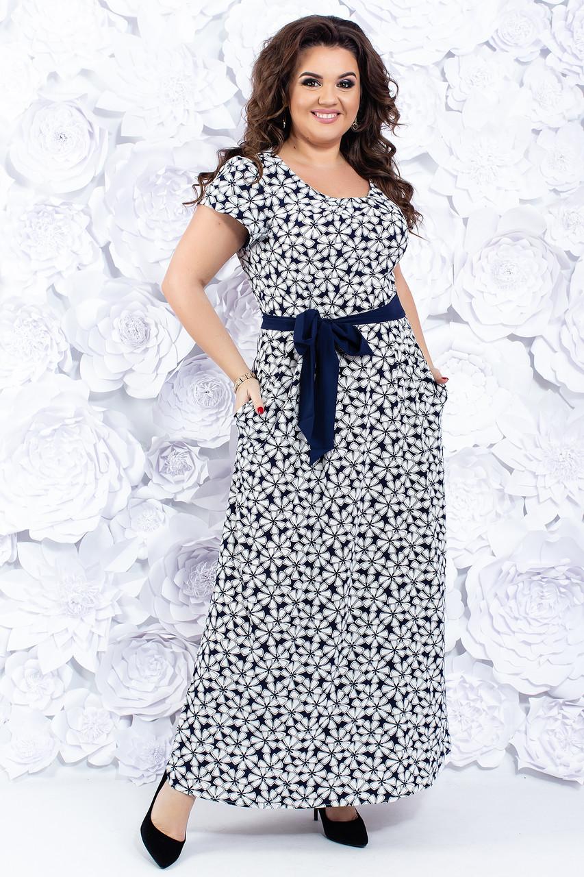 Женское летнее платье 52-54 р
