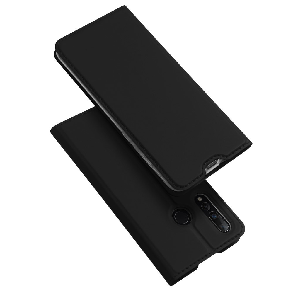 Чехол книжка для Huawei nova 4 боковой с отсеком для визиток, DUX DUCIS, черный