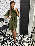 Женское стильное платье рубашка с широким поясом (2 цвета), фото 5