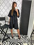 Женское стильное платье рубашка с широким поясом (2 цвета), фото 4