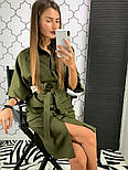 Женское стильное платье рубашка с широким поясом (2 цвета), фото 6