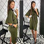 Женское стильное платье рубашка с широким поясом (2 цвета), фото 9