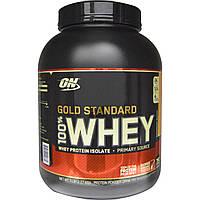 Optimum Nutrition, Золотой стандарт, 100% сыворотка, клубника и банан, 5 фунтов (2,27 kg)