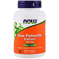 Now Foods, Экстракт пальмы сереноа, 160 мг, 240 гелевых капсул