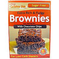 Universal Nutrition, Doctor's CarbRite Diet, очень вкусные и тянущиеся брауни с шоколадной стружкой, 11,5 унций (326 г)