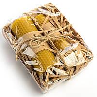Подарочный набор из медовых свечей