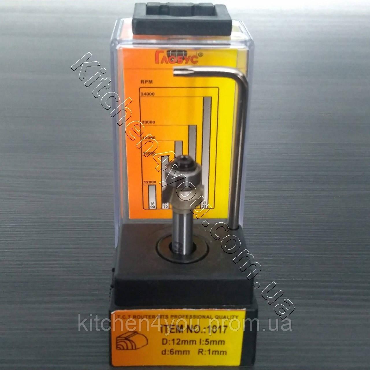 Фреза R1, d6 для обрізання кромки ПВХ і АБС з підшипником