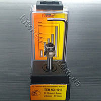 Фреза R1, d6 для обрезки кромки ПВХ и АБС с подшипником