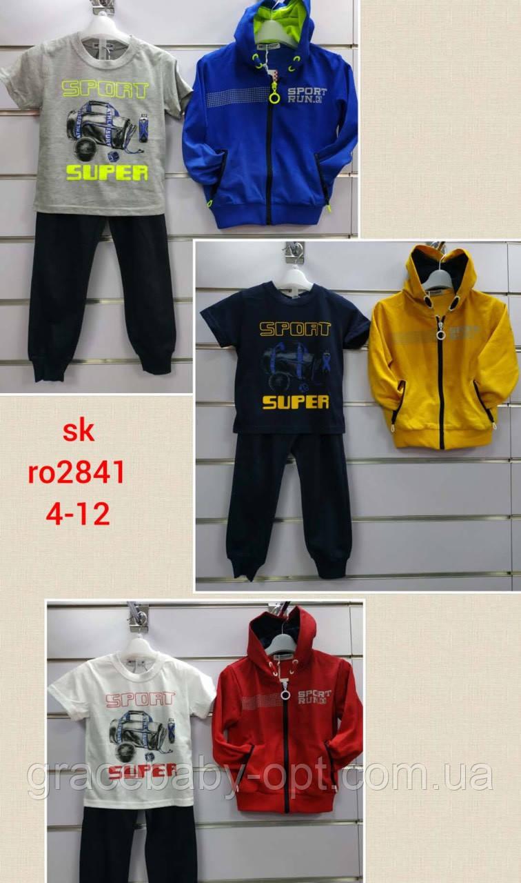 Трикотажный костюм 3 в 1 для мальчика оптом, Setty Koop, 4-12 лет,  № RO2841