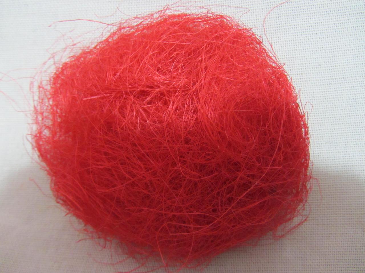 Сизаль кораллового цвета, (8/7) (цена за 1 шт. + 1 гр.)