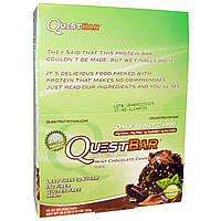 Quest Nutrition, Quest Bar, Protein Bar, Mint Chocolate, 12 Bars, 2.1 oz (60 g) Each