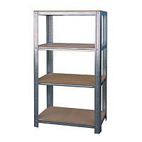 Стеллаж металлический 1000*400 с полками из МДФ-плиты для склада, хозяйства, балкона, подвала, гаража