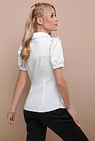 Женская блуза в офисном стиле  размеры S M L XL(42,44,46,48), фото 3