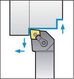 Схема обробки різцем MCLNL2525M12