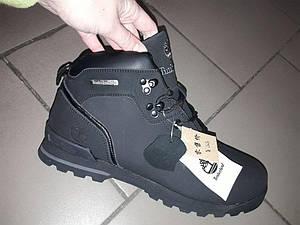 Зимние ботинки timberland 41-46 рр мужские на густом меху зима кожа термо мембрана