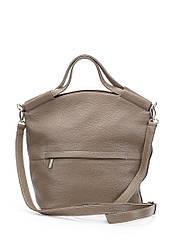 Женская сумка Тоут цвета капучино кожаная (90-02)
