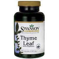 Тимьян, Swanson, Thyme Leaf, 500 мг, 120 капсул