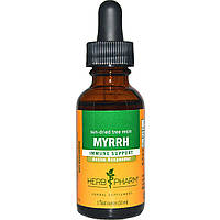 Herb Pharm, Мирра, высушенная на солнце древесная смола, 1 жидкая унция (30 мл)