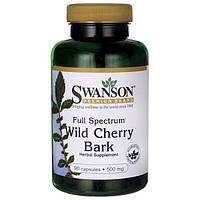 Кора дикой вишни, Swanson, Wild Cherry Bark, 500 мг, 90 капсул