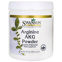 Аргинин альфакетоглутарат, Swanson, Arginine AKG Powder, 350 грамм