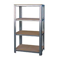 Стеллаж металлический 1200*500 с полками из МДФ-плиты для склада, хозяйства, балкона, подвала, гаража