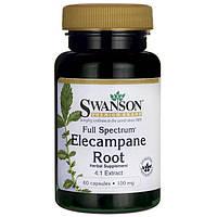 Корень девясила (4:1), Swanson, Elecampane Root (4:1), 100 мг, 60 капсул