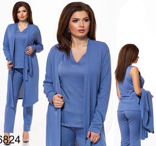 7985f49f52d купить женский брючный костюм большого размера Украина в интернет магазине  Style-girl