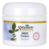 МСМ крем, Swanson, MSM Cream, 59 мл
