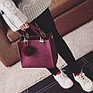 Сумка женская кожаная классическая Elli Бордовый, фото 5
